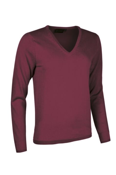 Ladies Great & British Knitwear Made In Scotland 100% Cashmere V Neck Whites and Reds Product Image