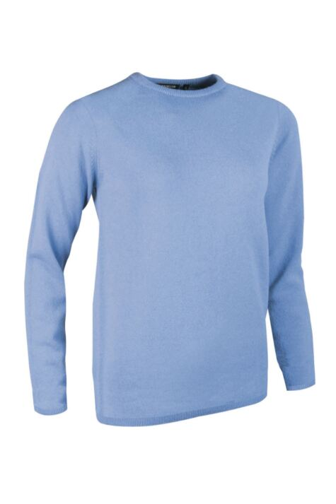 Ladies Great & British Knitwear Made In Scotland 100% Cashmere Round Neck Blues Product Image