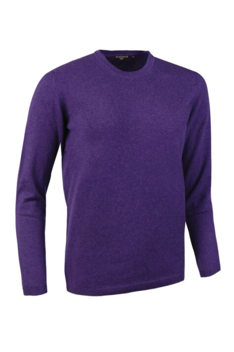Ladies Great & British Knitwear Made In Scotland 100% Cashmere Round Neck Pinks and Purples Product Image