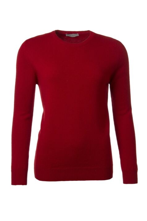 Ladies Great & British Knitwear 100% Lambswool Plain Round Neck Jumper Product Image