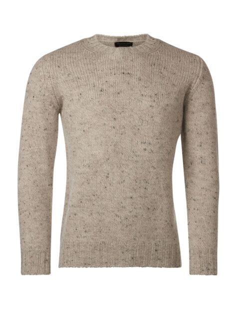 Mens Great & British Knitwear 100% British Wool Heritage Chunky Rib Crew Neck Jumper Product Image
