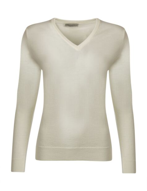 Ladies Great & British Knitwear 100% Merino V Neck Jumper Product Image