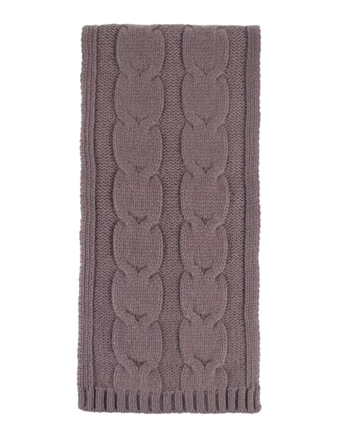 Ladies Great and British Knitwear 100% Cashmere Cable Knit Scarf. Made In Scotland Product Image
