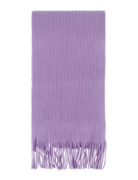 Ladies and Mens Great and British Knitwear 100% Cashmere Plain Knit Scarf With Fringe Product Image