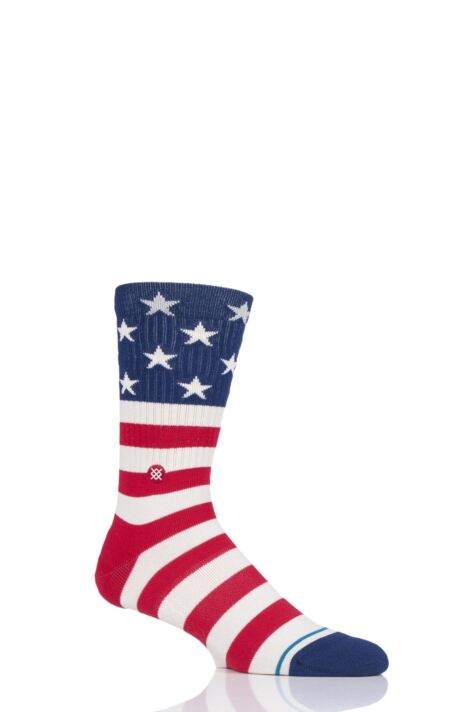 Mens and Ladies 1 Pair Stance The Fourth St Crew Cotton Socks Product Image