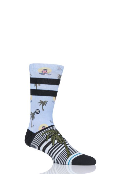 Mens and Ladies 1 Pair Stance Aloha Monkey St Cotton Socks Product Image
