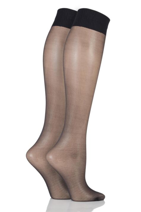Ladies 2 Pair Aristoc 15 Denier Medium Support Knee Highs Product Image