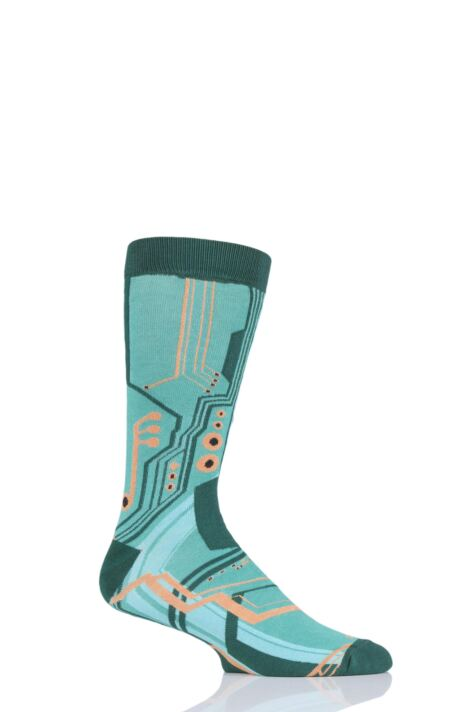 Mens and Ladies 1 Pair Shared Earth Fair Trade Bamboo Circuit Board Socks Product Image