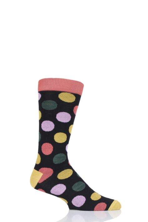 Mens and Ladies 1 Pair Shared Earth Fair Trade Bamboo Polka Dots Socks Product Image