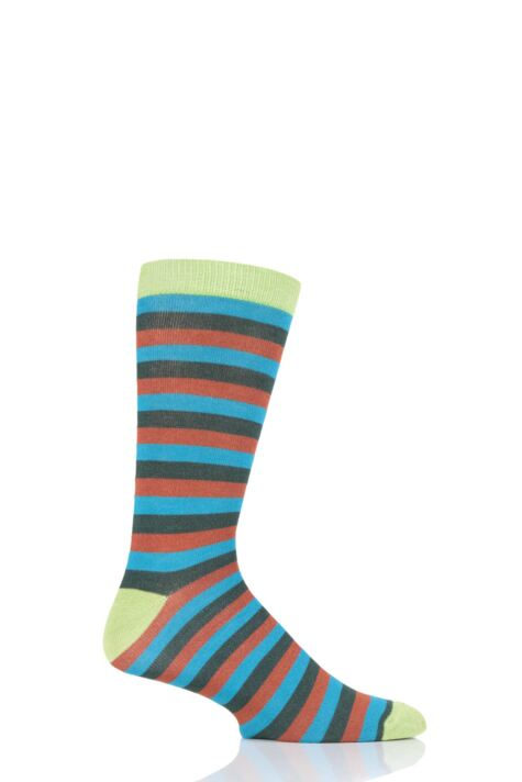Mens and Ladies 1 Pair Shared Earth Stripes Fair Trade Bamboo Socks Product Image