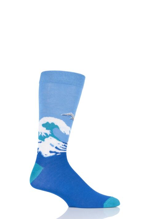 Mens and Ladies 1 Pair Shared Earth Restless Sea Fair Trade Bamboo Socks Product Image