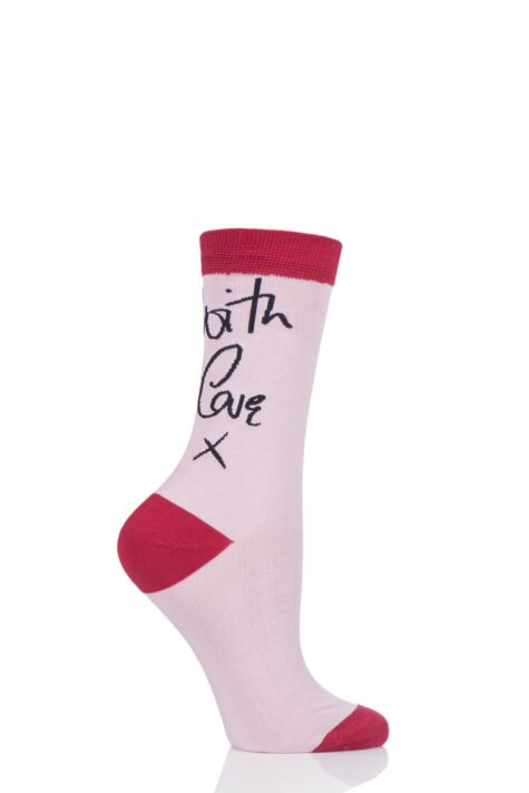 Ladies 1 Pair Lulu Guinness With Love Bamboo Socks Product Image