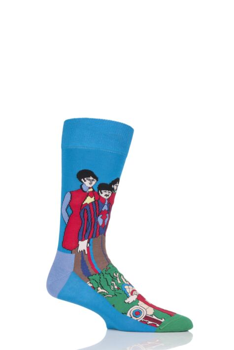 Happy Socks The Beatles Yellow Submarine UK 4-7 Unisex Socks Xmas Gift Box
