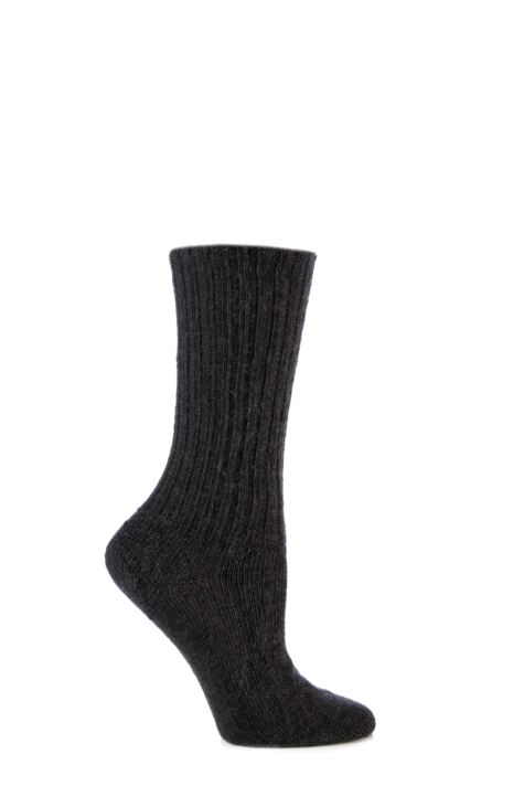 Mens and Ladies 1 Pair SockShop of London Mohair Ribbed Knit Comfort Cuff True Socks Product Image