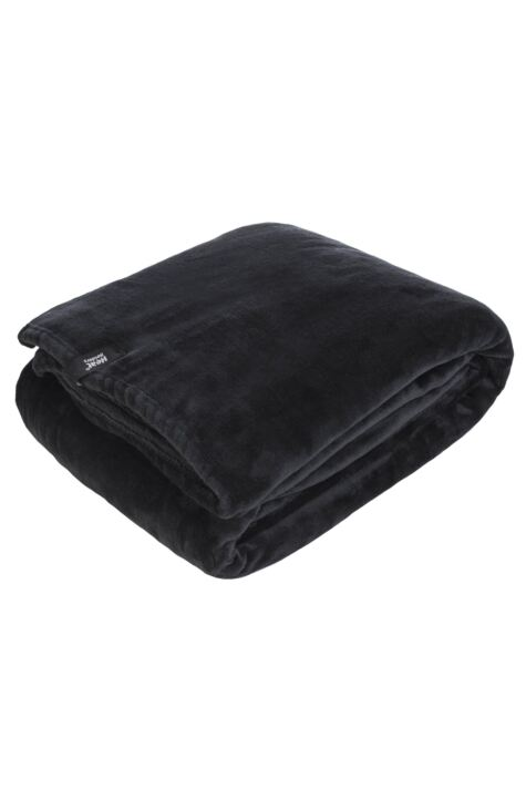 SOCKSHOP Heat Holders Snuggle Up Thermal Blanket In Black Product Image
