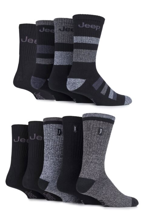 Mens 9 Pair Jeep Fresh Sock Drawer Collection Socks Product Image
