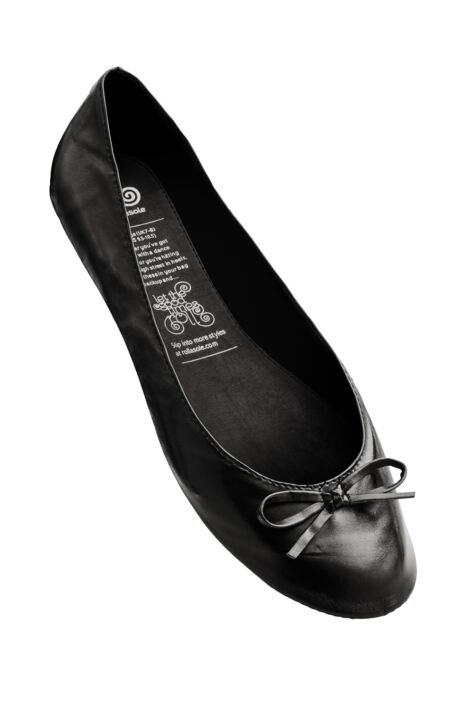 Ladies 1 Pair Rollasole Black Rollable After Party Shoes to Keep in Your Handbag Product Image