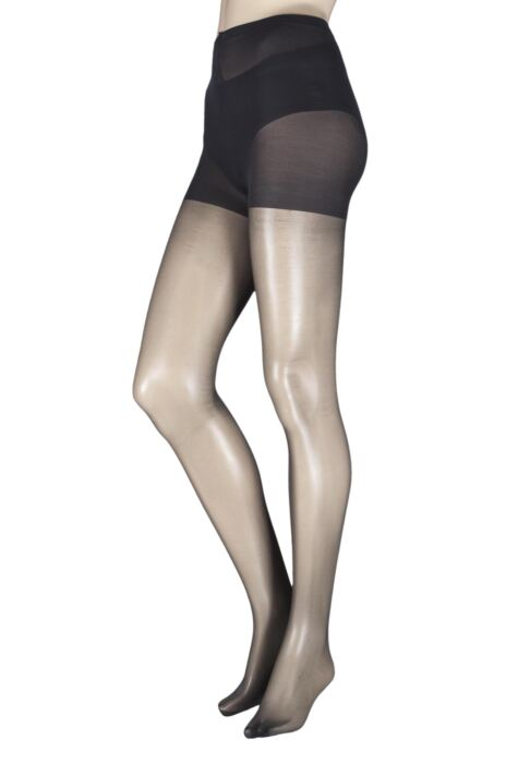 Ladies 1 Pair Pretty Legs 15 Denier Ladder Resist Fusion Tights Product Image