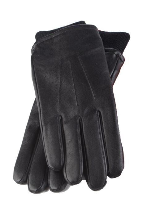 Mens 1 Pair Heat Holders Leather Gloves 1.2 TOG Product Image