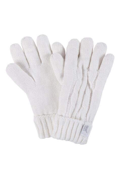 Ladies 1 Pair Heat Holders 3.2 Tog Heatweaver Yarn Gloves Product Image