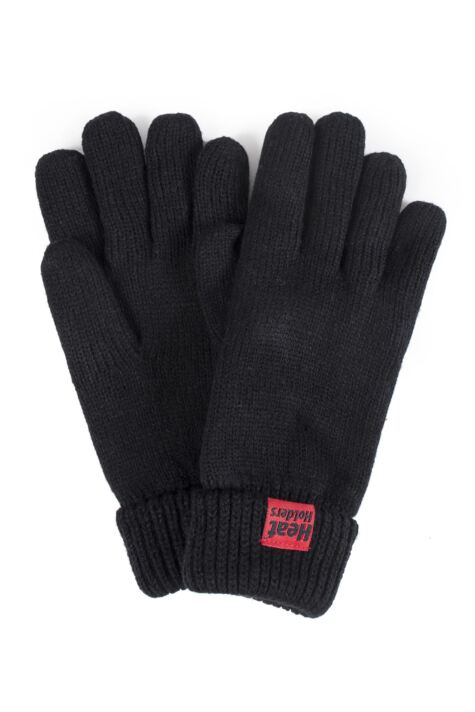Mens 1 Pair SockShop Heat Holders Microluxe Gloves Product Image