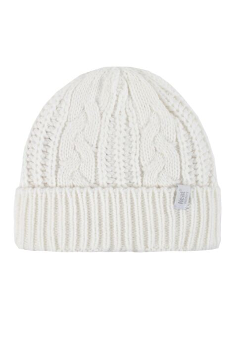 Ladies 1 Pack Heat Holders Heat Weaver Cable Knit Hat Product Image