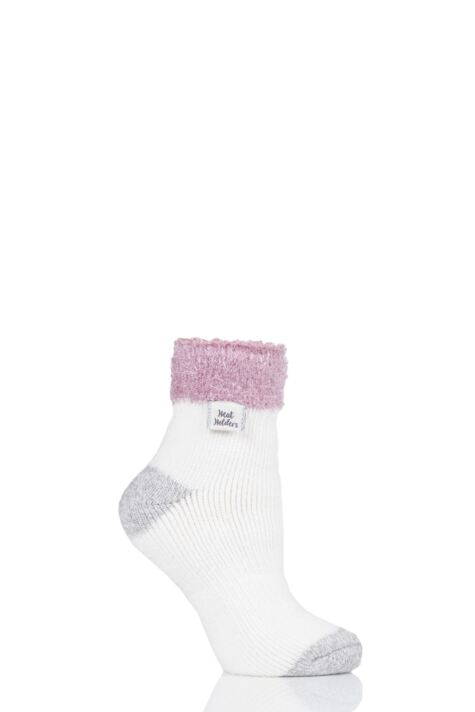 Ladies 1 Pair Heat Holders Sleep Feather Top Socks Product Image