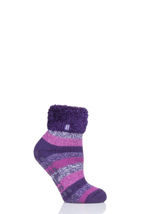 Ladies 1 Pair Heat Holders Lilly Stripe Lounge Socks Product Image