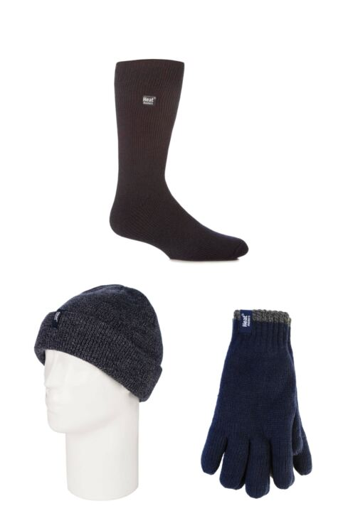 Mens SockShop Heat Holder Hat Gloves and Socks Pack Product Image