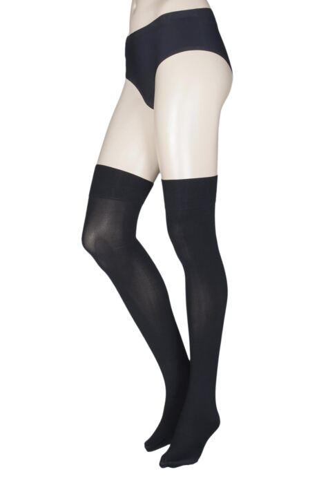 Ladies 1 Pair Trasparenze Caballero 70 Denier Over the Knee Socks Product Image