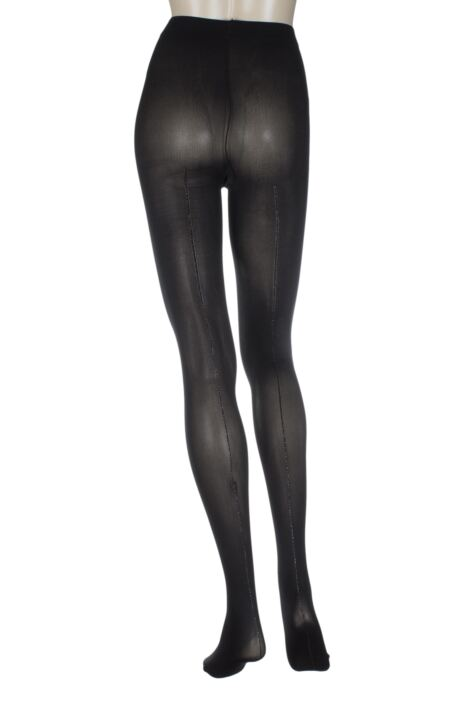 Ladies 1 Pair Charnos Lurex Backseam Sheer Tights Product Image