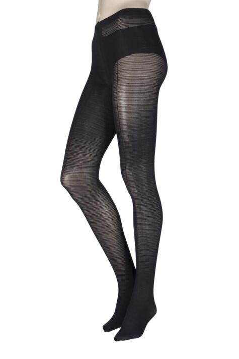 Ladies 1 Pair Charnos Striped Opaque Tights Product Image