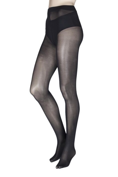 Ladies 1 Pair Charnos Fashion Glitter Backseam Sparkle Tights Product Image