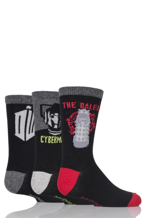 Kids 3 Pair SockShop Doctor Who Socks Product Image