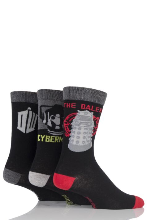 Mens 3 Pair SockShop Doctor Who Socks Product Image