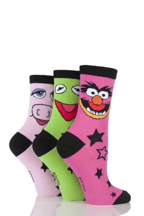Ladies 3 Pair SOCKSHOP Muppets Socks Product Image