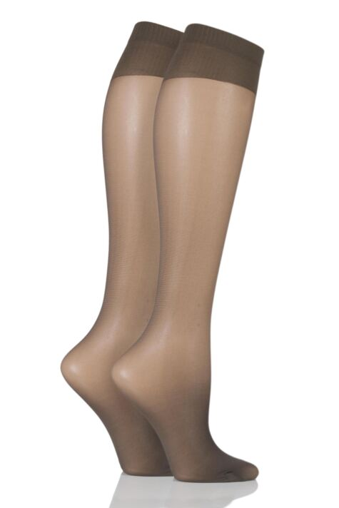 Ladies 2 Pair Charnos 15 Denier Trouserwear Knee Highs Product Image