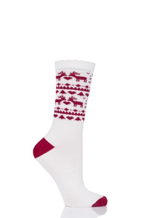 Ladies 1 Pair Charnos Bamboo Christmas Socks Product Image