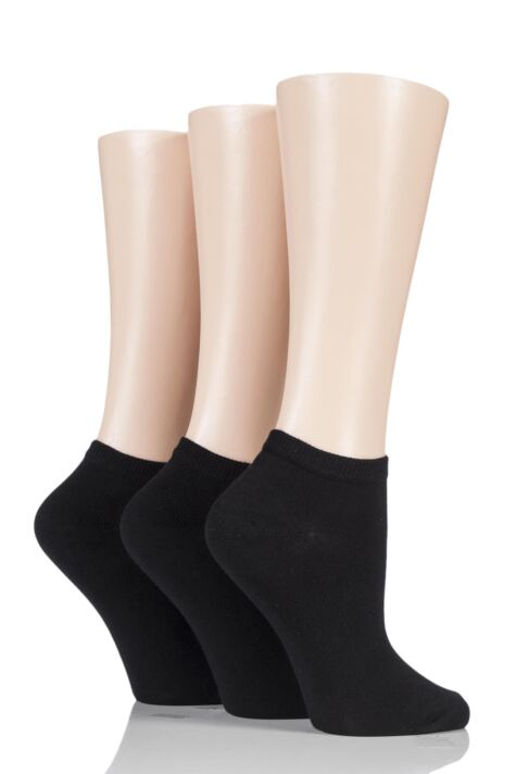 Ladies 3 Pair Charnos Cotton Trainer Socks Product Image