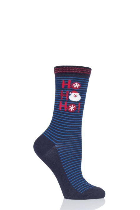 Ladies 1 Pair Charnos Cotton Christmas Ho Ho Ho Socks Product Image