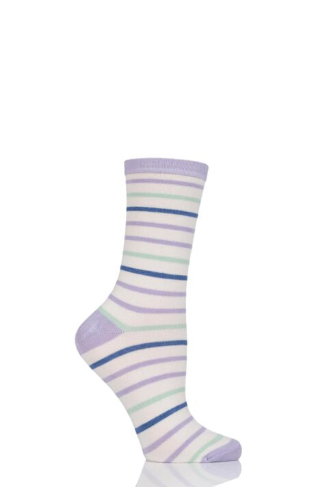Ladies 1 Pair Charnos Stripe Bamboo Socks Product Image