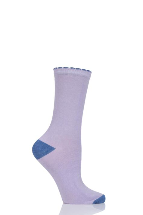 Ladies 1 Pair Charnos Contrast Heel and Toe Bamboo Socks Product Image