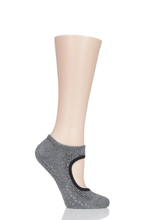 Ladies 1 Pair Tavi Noir Open Front Grip Yoga Organic Cotton Socks Product Image