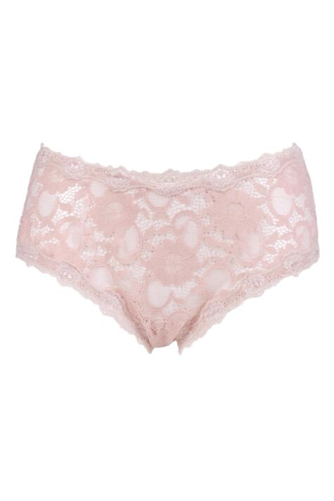 Ladies 1 Pair Kinky Knickers 'Outstanding In Oyster' Border Lace Classic Knicker Product Image