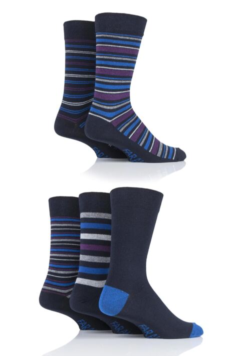 Mens 5 Pair Farah Stripe Socks Product Image