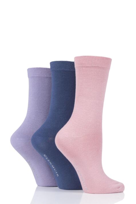 Ladies 3 Pair Glenmuir Classic Plain Bamboo Socks Product Image