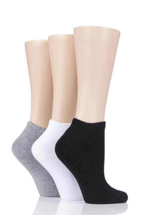 Ladies 3 Pair Glenmuir Cushion Bamboo Sports Trainer Socks Product Image