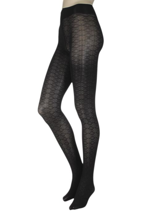 Ladies 1 Pair Trasparenze Damasco Opaque Tights Product Image