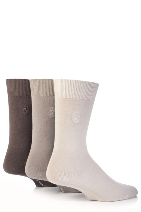 Mens 3 Pair Pringle of Scotland Classic Bamboo Plain Socks Product Image