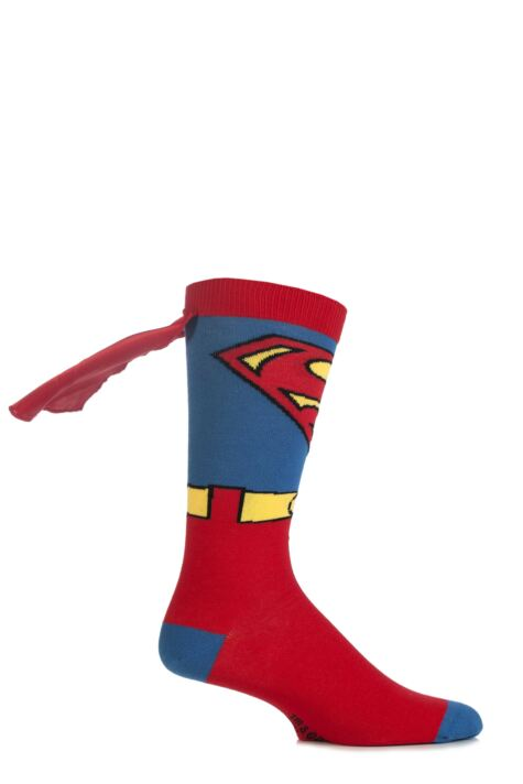Mens 1 Pair SockShop Superman Cape Socks Product Image